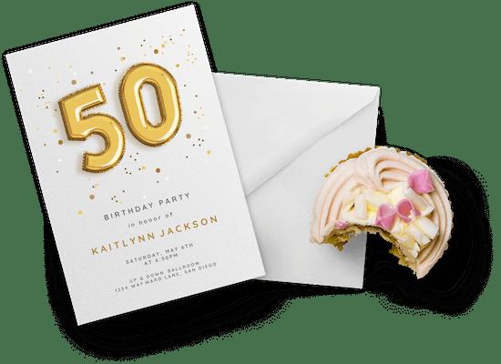 Invitaciones para cumpleaños especial