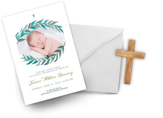 Boy Baptism & Christening invitations