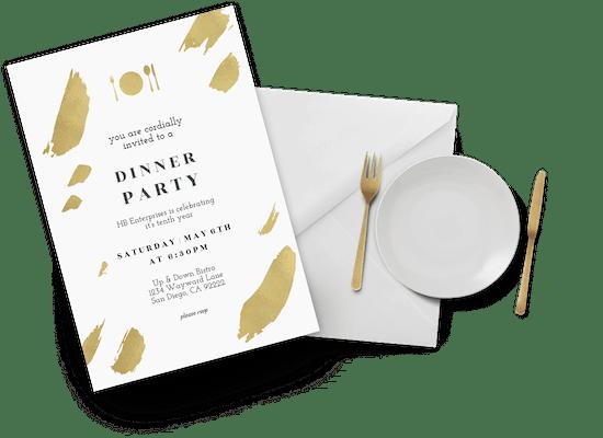 Invitaciones para fiesta con cena