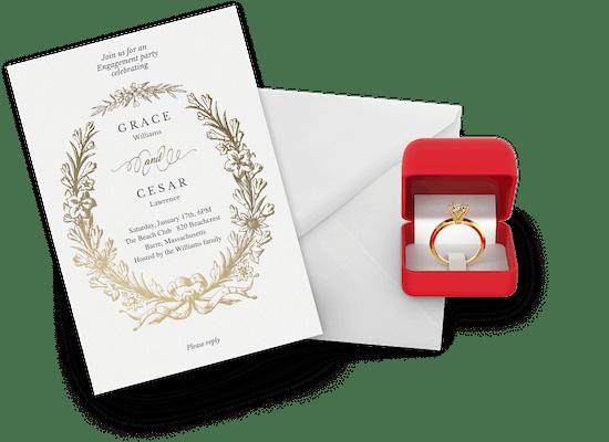 Invitaciones para fiesta de compromiso