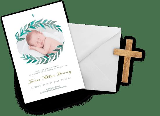 Girl Baptism & Christening invitations