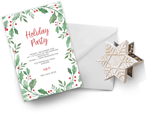 Holidays invitations
