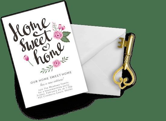 Invitaciones para inauguración de casa nueva