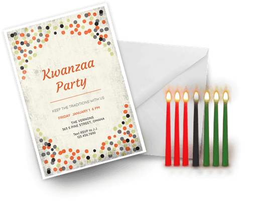 Kwanzaa invitations