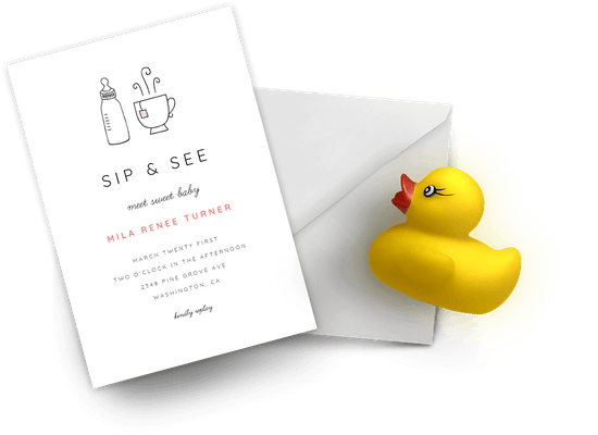 Sip & See invitations