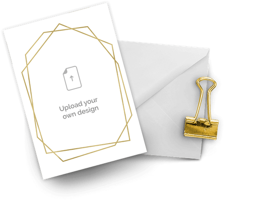 Upload your own design invitations