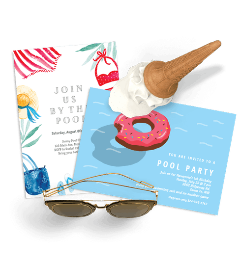 Summer & Pool Party Invitations